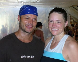 Power Yoga guru Baron Baptiste with Move Your Hyde owner Missy